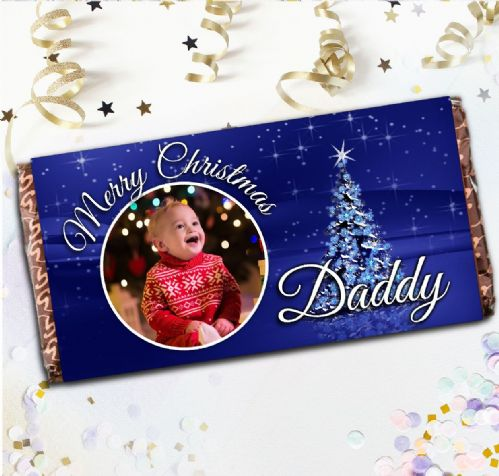 Personalised Merry Christmas Milk Chocolate Bar- Xmas Eve Stocking Filler Gift N20